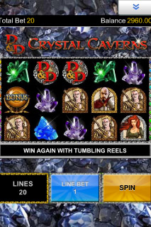 Dungeons & Dragons Mobile Slot Screenshot