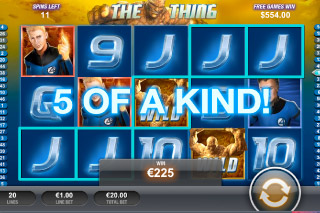 Fantastic Four Mobile Slot 5 of a Kind