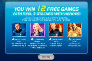 Fantastic Four Mobile Slot Free Spins