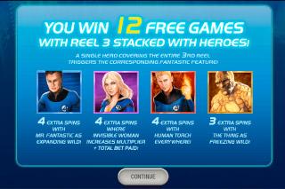 Fantastic Four Mobile Slot Free Spins