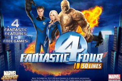 Fantastic Four Marvel Mobile Slot Logo