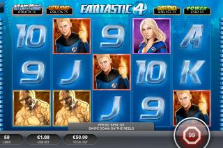 Fantastic Four Mobile Slot Screenshot