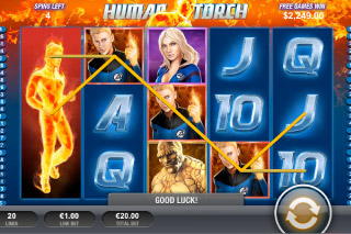 Fantastic Four Mobile Slot Johnny Storm
