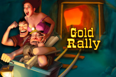 Gold Rally Mobile Slot Logo