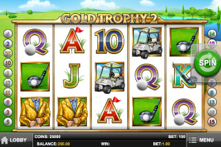 Gold Trophy 2 Mobile Slot Screenshot