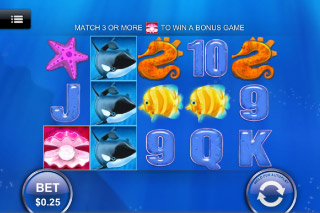 Great Blue Mobile Slot Screenshot