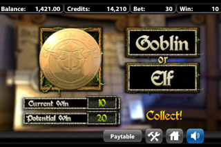 Greedy Goblins Mobile Slot Gamble Feature