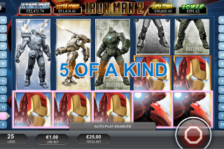 Iron Man 2 Mobile Slot 5 of a Kind
