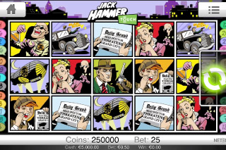 Jack Hammer Mobile Slot Screenshot