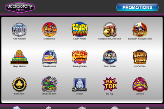 JackpotCity Mobile Casino Games Lobby