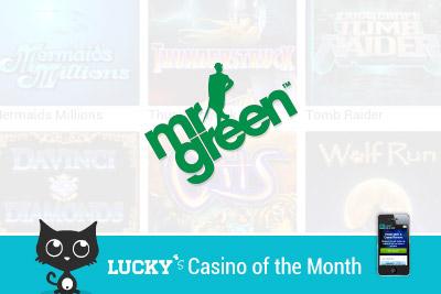 Mr Green Mobile Casino of the Month for September - 100% Welcome Bonus