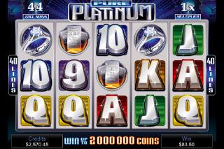 Pure Platinum Free Spins Screenshot