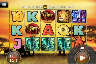 Safari Heat Mobile Slot Screenshot