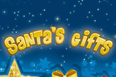 Santa's Gift Mobile Slot Logo