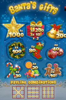 Santa's Gift Mobile Slot Paytable
