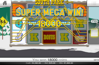 South Park Touch Mobile Slot Super Mega Win