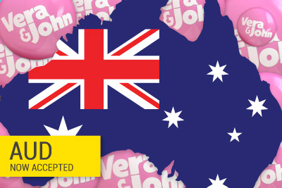 Vera&John Casino Now Accepts Australian Dollars as a Player Currency