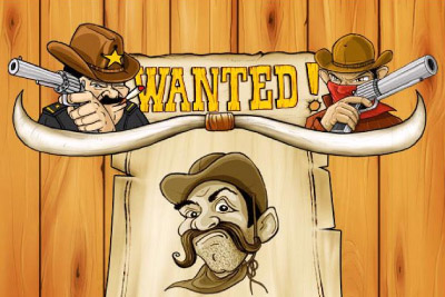 Wanted Mobile Slot Logo
