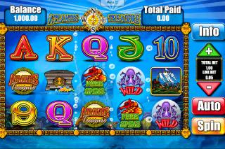 Atlantis Treasure Mobile Slot Screenshot