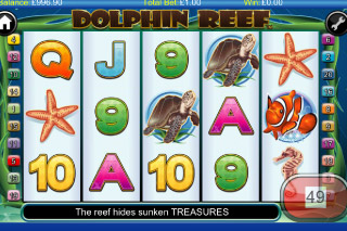 Dolphin Reef Mobile Slot Screenshot