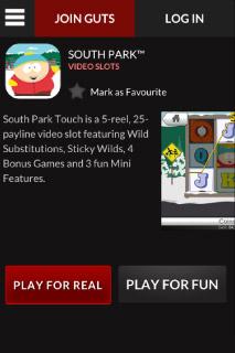 Guts Mobile Casino Slot Info