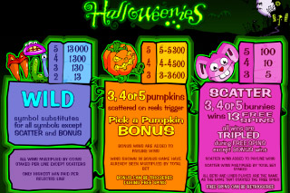 Halloweenies Mobile Slot Bonus Features