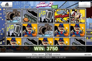 Jack Hammer 2 Mobile Slot Win
