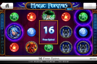 Magic Portals Touch Free Spins