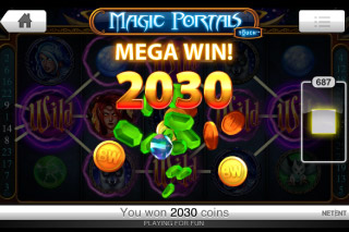 Magic Portals Touch Mobile Slot Mega Win