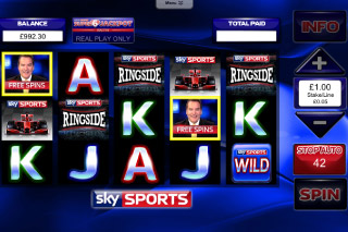 Sky Sports Mobile Slot Screenshot