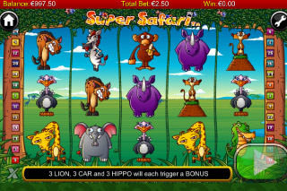 Super Safari Mobile Slot Screenshot