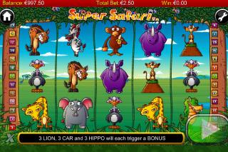 Super Safari Mobile Slot Screenshot