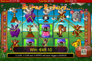 Super Safari Mobile Slot Win