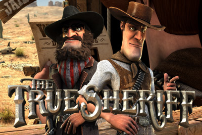 The True Sheriff Mobile Slot Logo