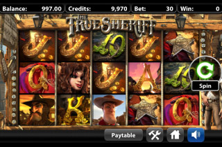 The True Sheriff Mobile Slot Screenshot