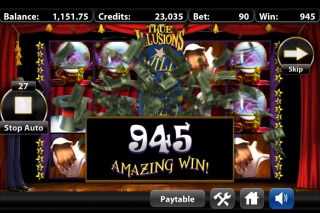 True Illusions Mobile Slot Big Win