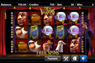 True Illusions Mobile Slot Free Spins