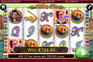 Venetian Rose Mobile Slot Win