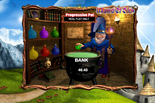 Wizard of Odds Mobile Slot Cauldron Bonus