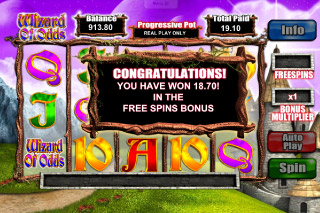 Wizard of Odds Mobile Slot Free Spins