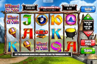 Wizard of Odds Mobile Slot Screenshot