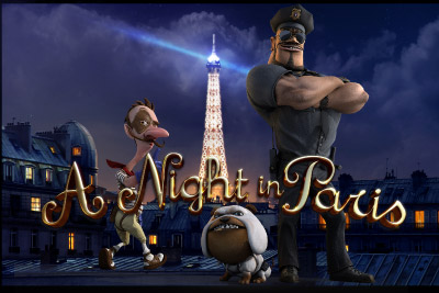 A Night In Paris Mobile Slot Logo