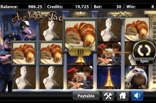 A Night In Paris Mobile Slot Screenshot