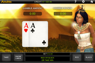 Anubis Mobile Slot Gamble Feature