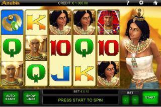 Anubis Mobile Slot Screenshot