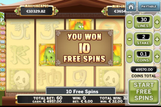 Benny the Panda Mobile Slot Free Spins Win