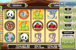 Benny the Panda Mobile Slot Screenshot