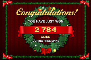 Deck the Halls Mobile Slot Free Spins Win