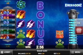 Energoonz Mobile Slot Bonus