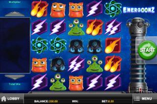 Energoonz Mobile Slot Screenshot